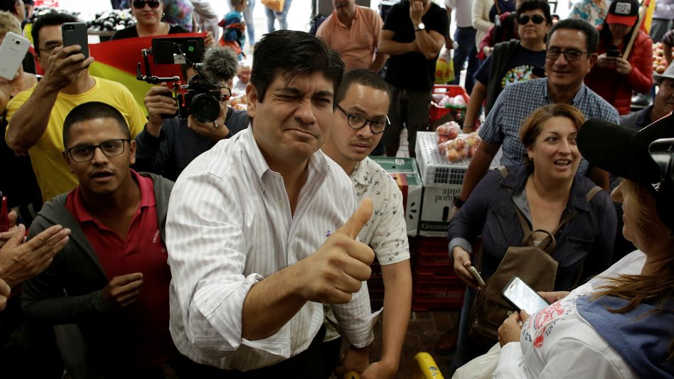Carlos Alvarado Quesada, 38, designierter Präsident Costa Ricas