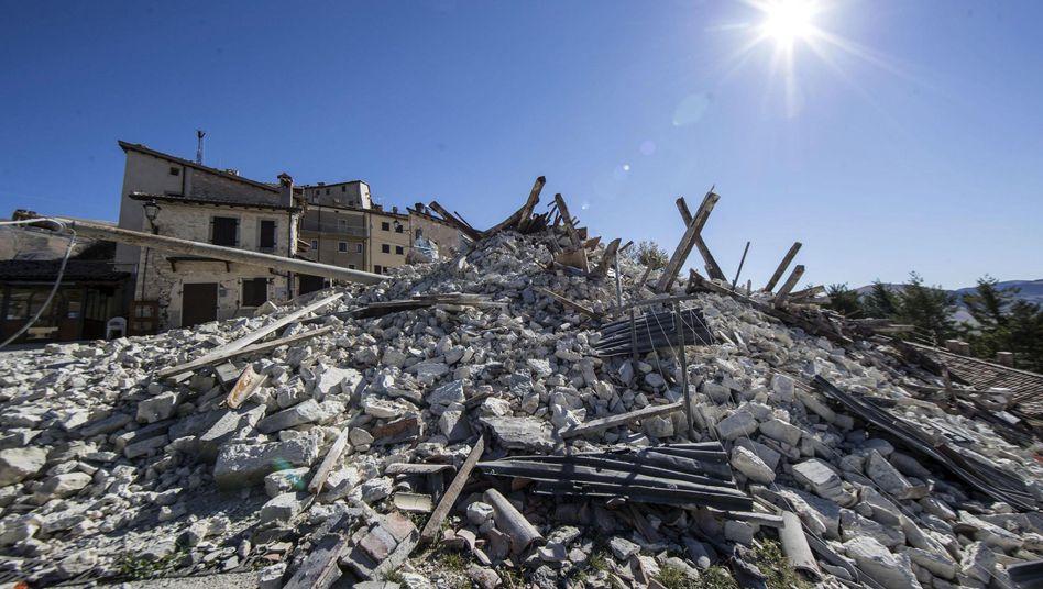 Castelluccio di Norcia nach dem jüngsten Beben am Dienstag
