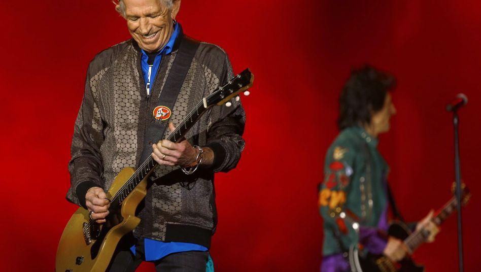 Keith Richards auf der Bühne in Hamburg