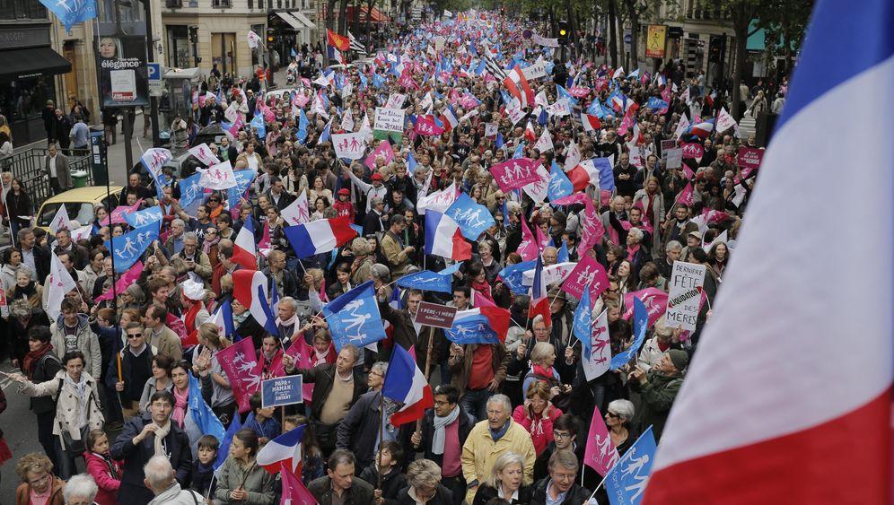 Paris: Demonstration gegen Homo-Ehe
