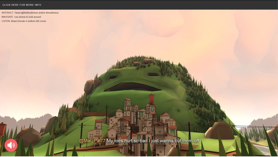 "Screenshot von ""Mountains of Mouthness"": Donnernde Stimmen"