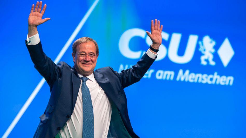 Armin Laschet auf dem Parteitag der CSU: Ja, genau der