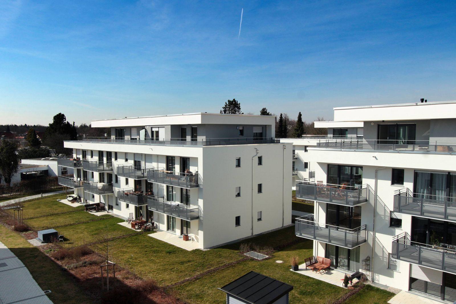 EINMALIGE VERWENDUNG Neubausiedlung München
