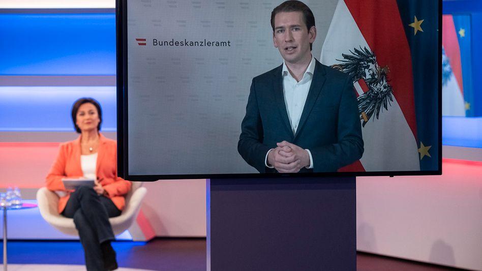 """Sebastian Kurz in der Schalte bei """"Maischberger"""": """"Behutsam und vorsichtig"""""""
