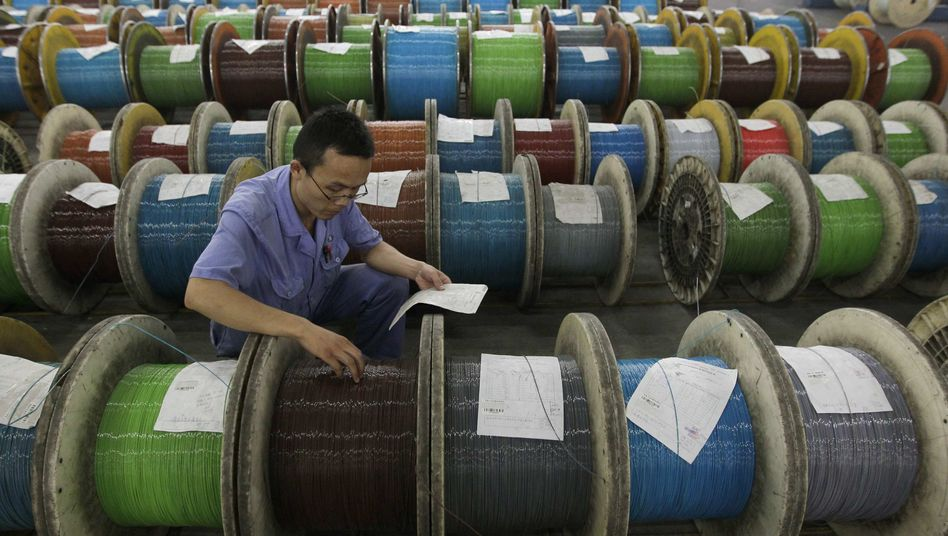 Fabrik zur Herstellung optischer Kabel in Wuhan