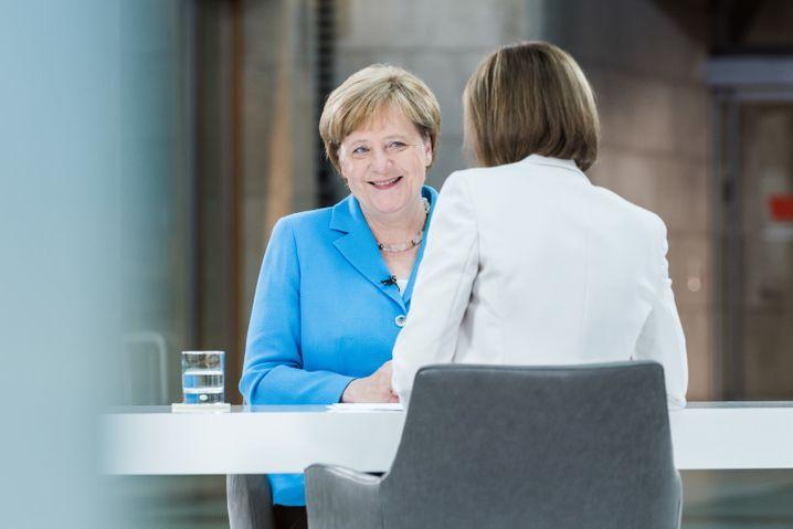 Merkel beim ZDF-Sommerinterview
