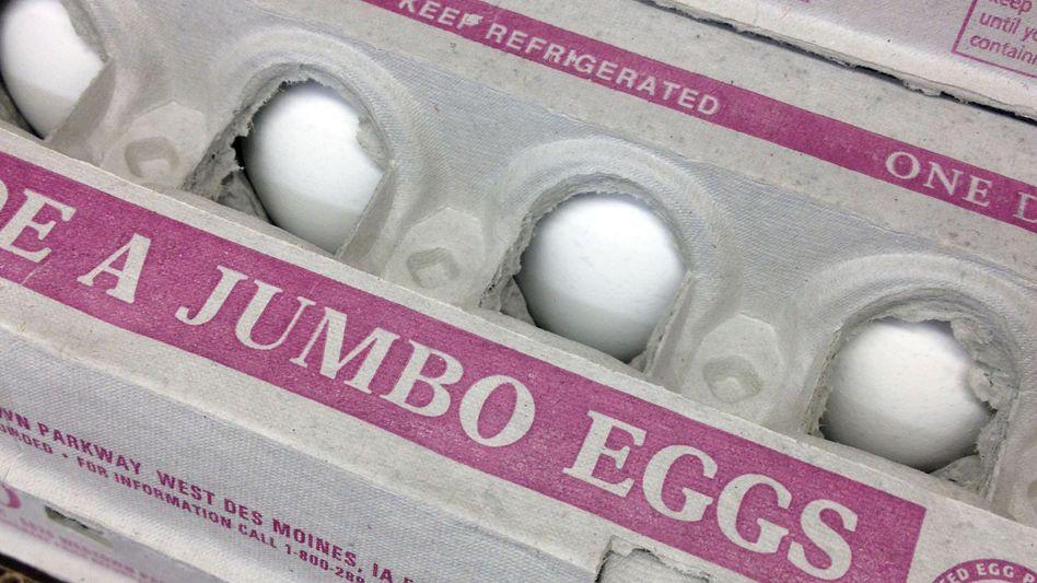 US-Packung mit Eiern: Überflüssiges Cholesterin scheidet der Körper wieder aus