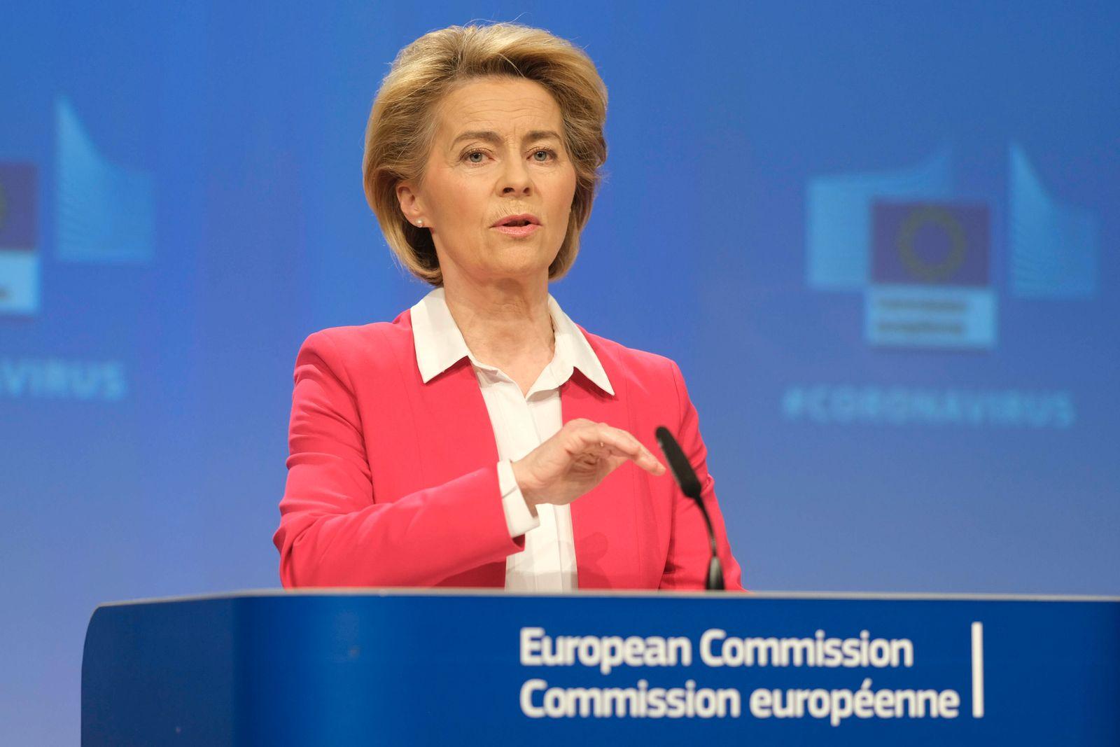 News Themen der Woche KW13 Press conference by the President of the European Commission, Ursula VON DER LEYEN, on SURE (