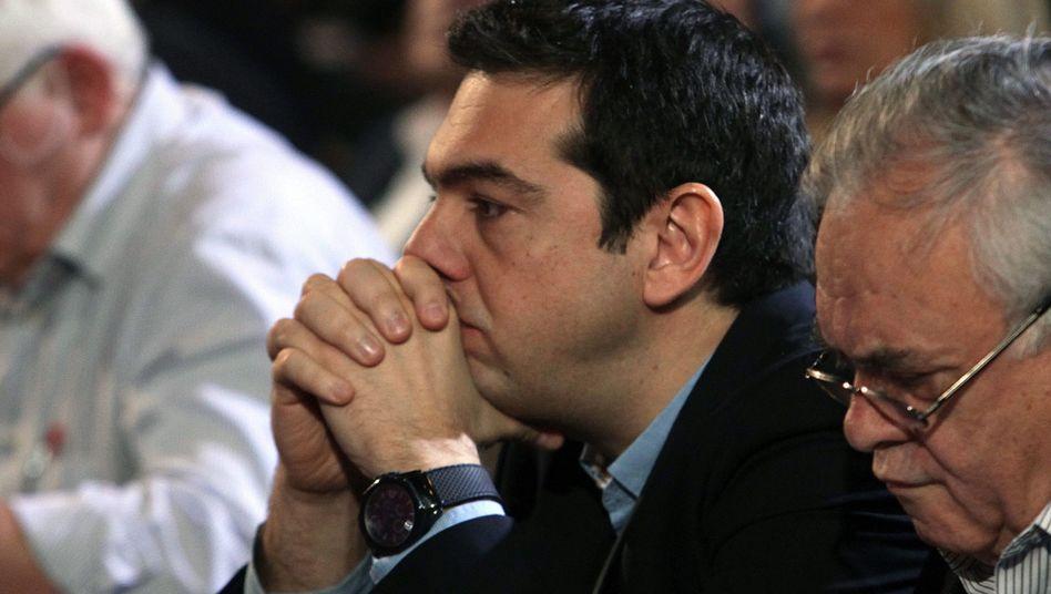 Nachdenklicher Tsipras: Das Geld wird knapp