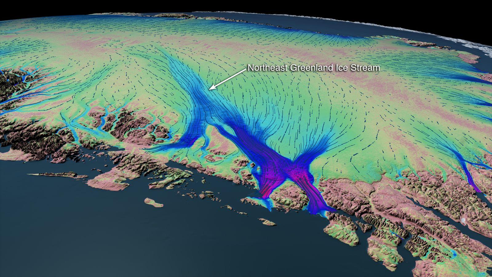 Eisstrom / Grönland