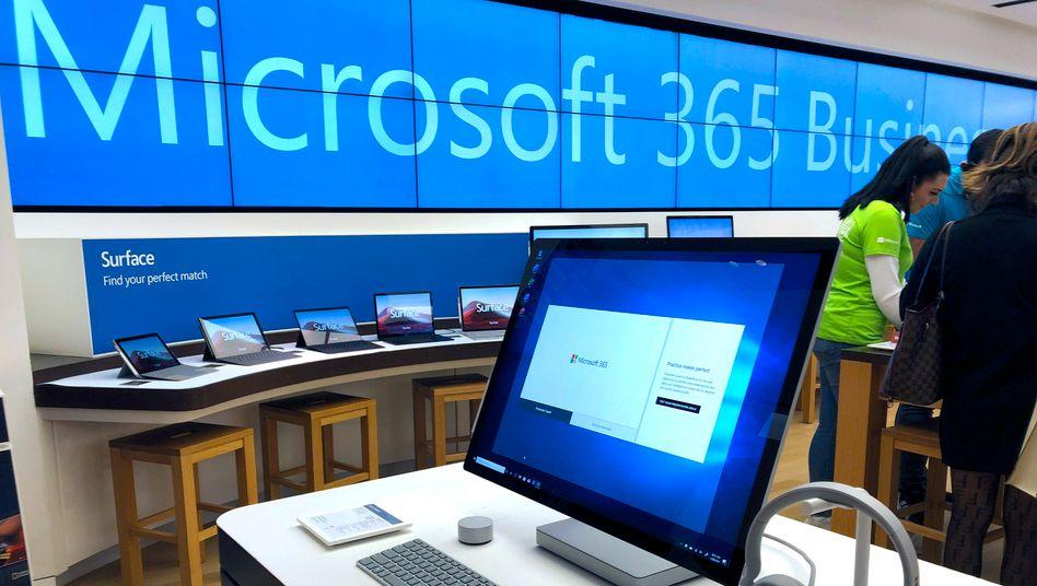 Microsoft-Laden in Boston (Archivbild): 82 Läden sollen geschlossen werden