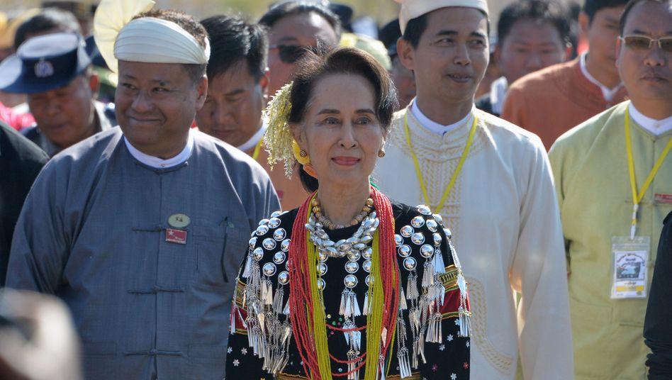 Myanmars Regierungschefin Aung San Suu Kyi (2020)
