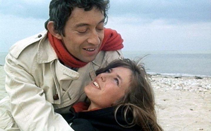 """Birkin 1968 mit Gainsbourg in dem Film """"Du bist wunderbar"""""""