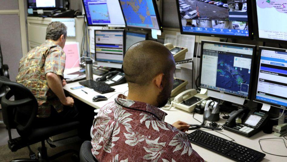 Kontrollzentrum der Katastrophenschutzbehörde EMA auf Hawaii (Archivbild vom Dezember 2017)