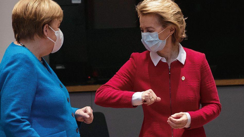 Kanzlerin Merkel, Kommissionspräsidentin von der Leyen:»Gehört nicht zu den einfachen Problemen, die wir zu lösen haben«
