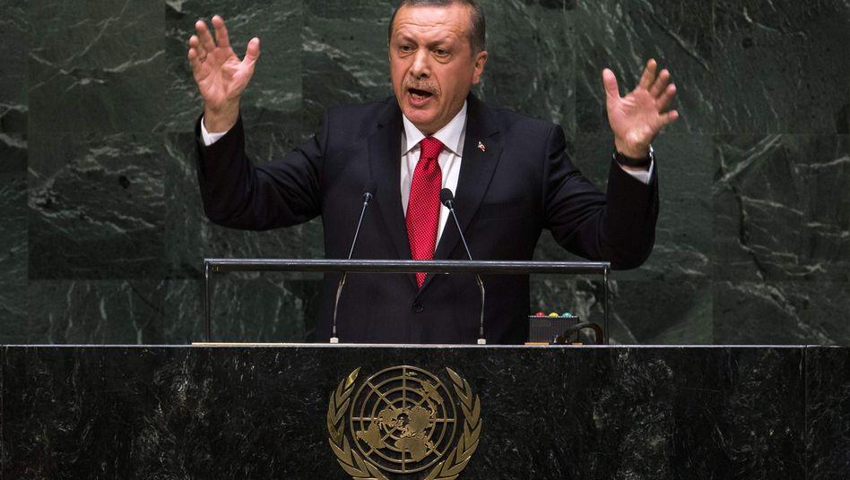 """Türkischer Präsident Erdogan: """"Mehr Mut"""""""