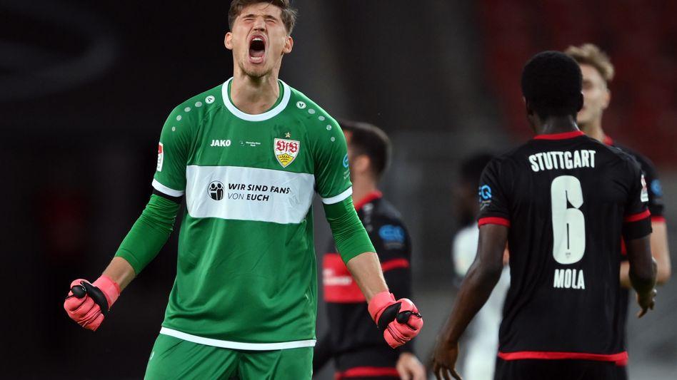 Jubelnder Stuttgart-Keeper Gregor Kobel: Spiel gedreht