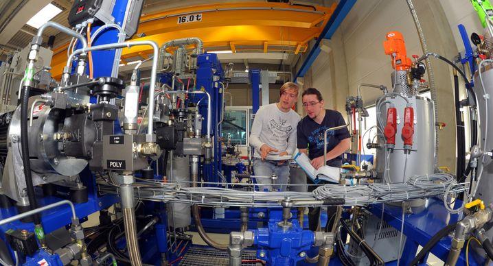 Ingenieurstudenten an der TU Chemnitz (Archiv)