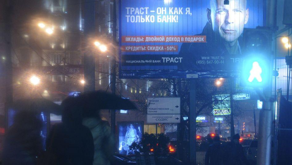 Willis-Werbung für Trust-Bank in Moskau: Unter staatliche Aufsicht gestellt