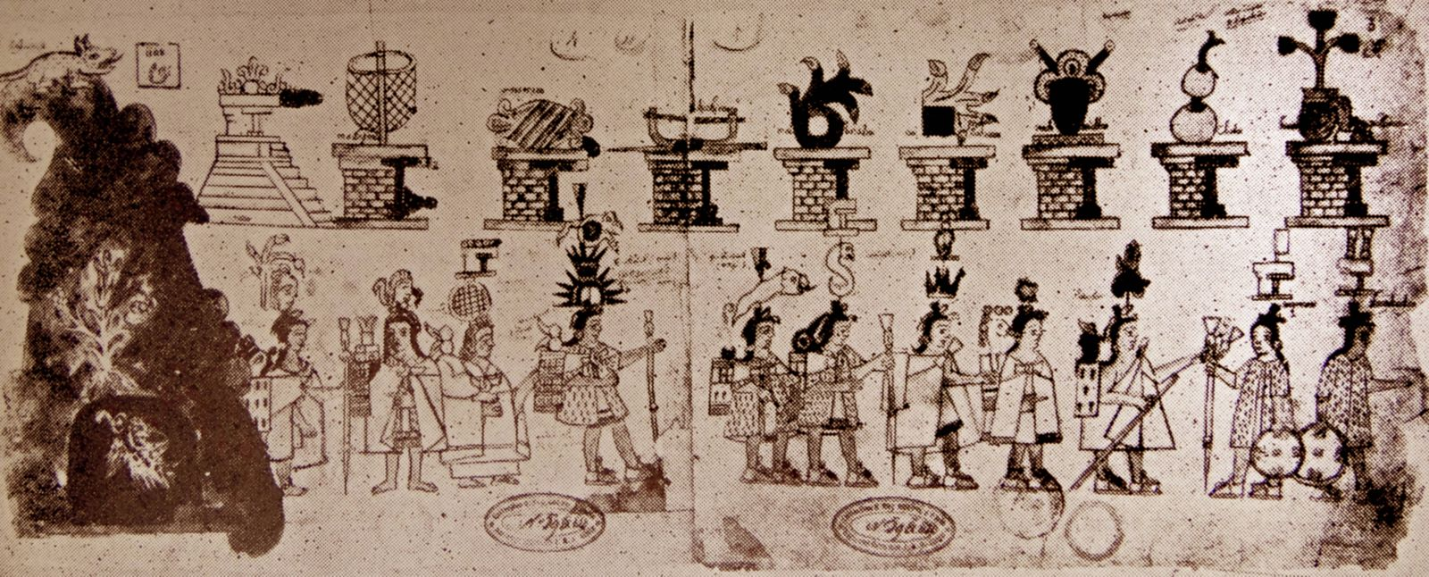 The Aztec Codex Azcatitlan details the history of the Mexica from their migration from Aztlßn to the
