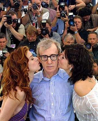Woody Allen may found life tragic, but he's always been pretty lucky with the ladies.