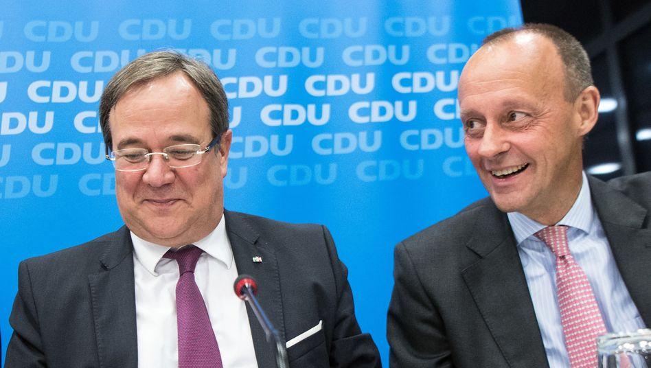 Auf die Frauen an der Spitze der CDU folgen die Männer: Armin Laschet und Friedrich Merz bewerben sich um den Parteivorsitz
