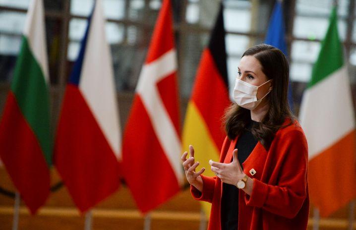 Sanna Marin beim EU-Gipfel in Brüssel