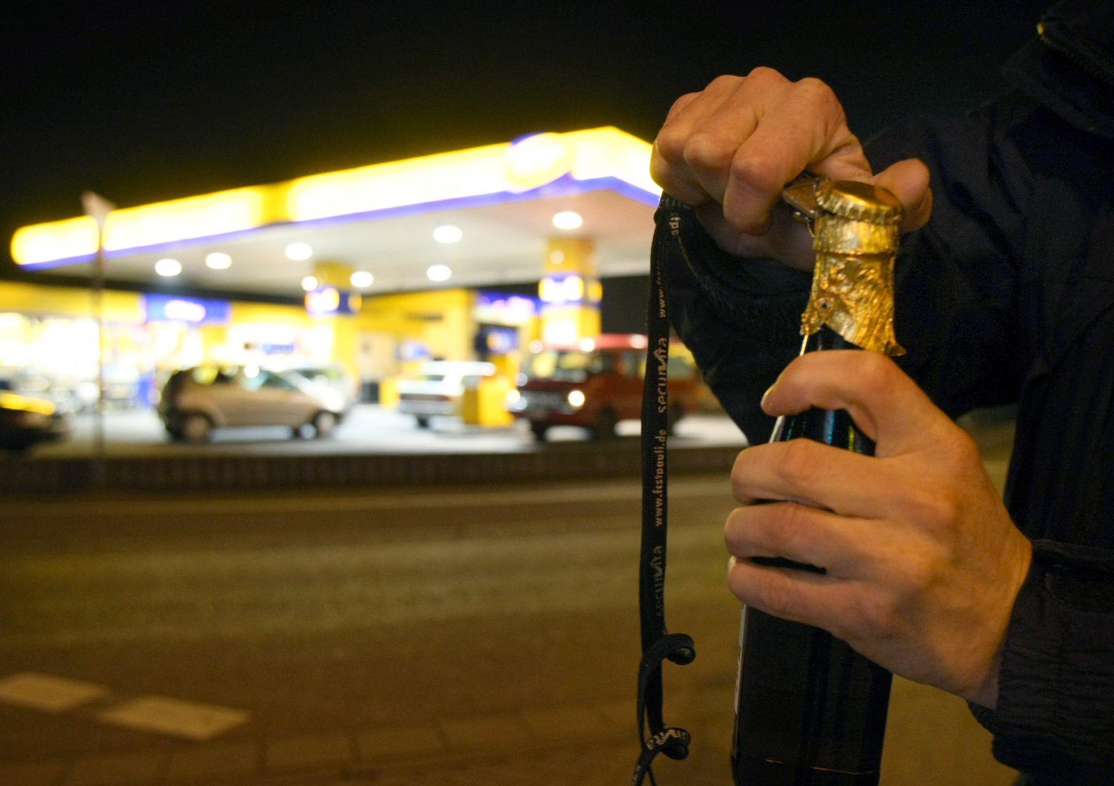 Bier/ Tankstelle
