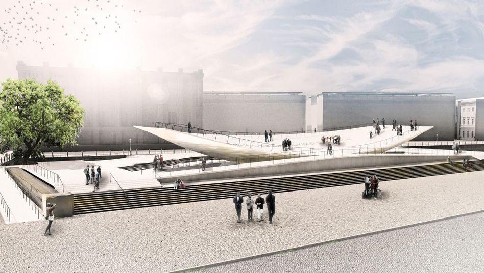 Modell des geplanten Freiheits- und Einheitsdenkmals in Berlin