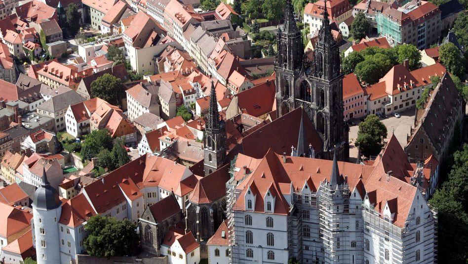 Dom in Meißen bei Dresden: Bilanzen in den Kommunen Sachsens sind ausgeglichen
