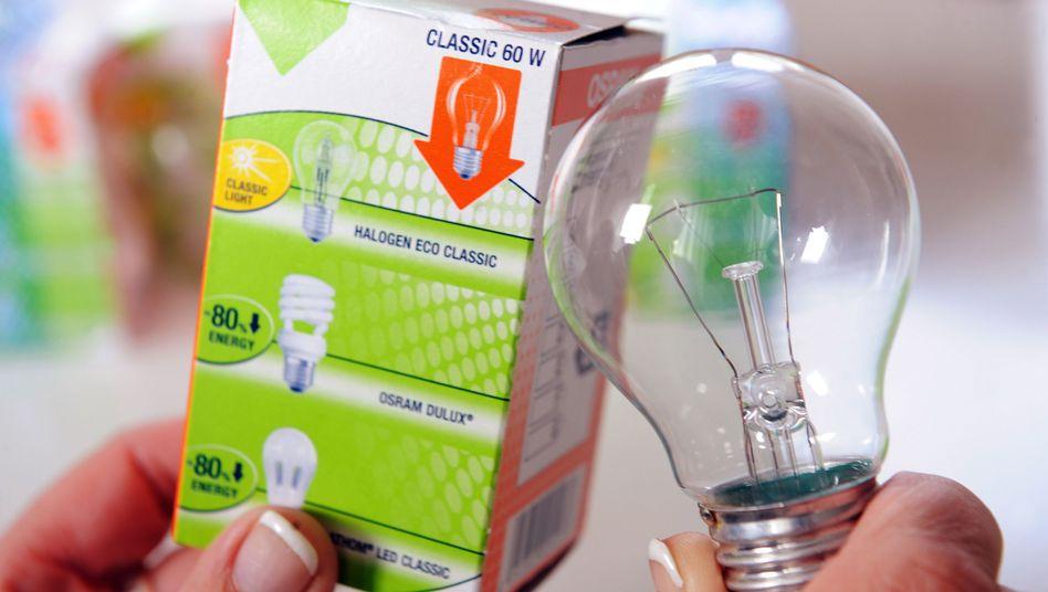 Energiesparlampe, Glühbirne: Ab September dürfen nur Restbestände verkauft werden