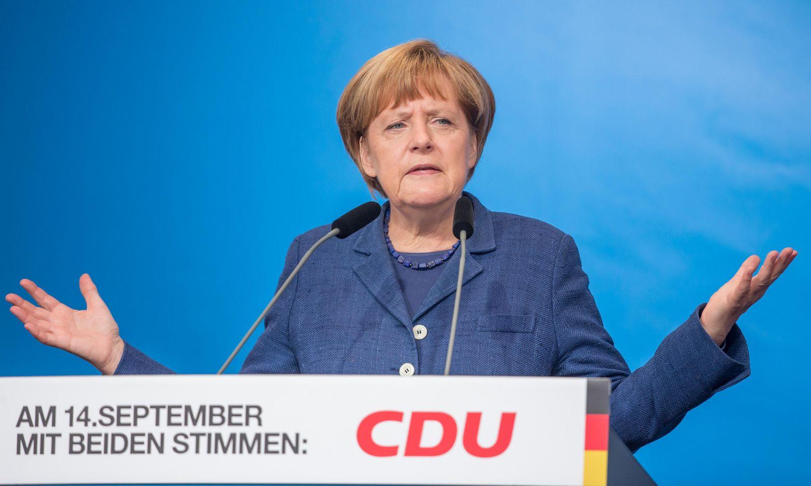 CDU - Wahlkampf in Thüringen merkel