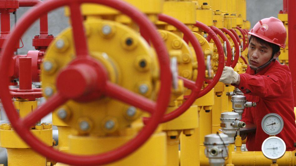 Ölpipeline in China (Archivbild): Höchste Fördermenge seit drei Jahren