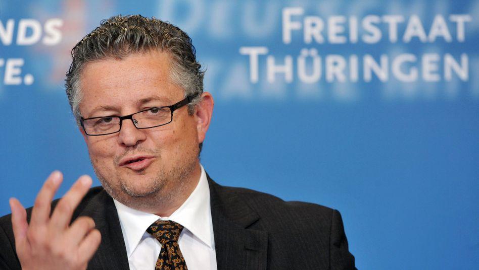 Thüringens Innenminister Peter Huber (CDU): Einer von drei neuen Richtern in Karlsruhe