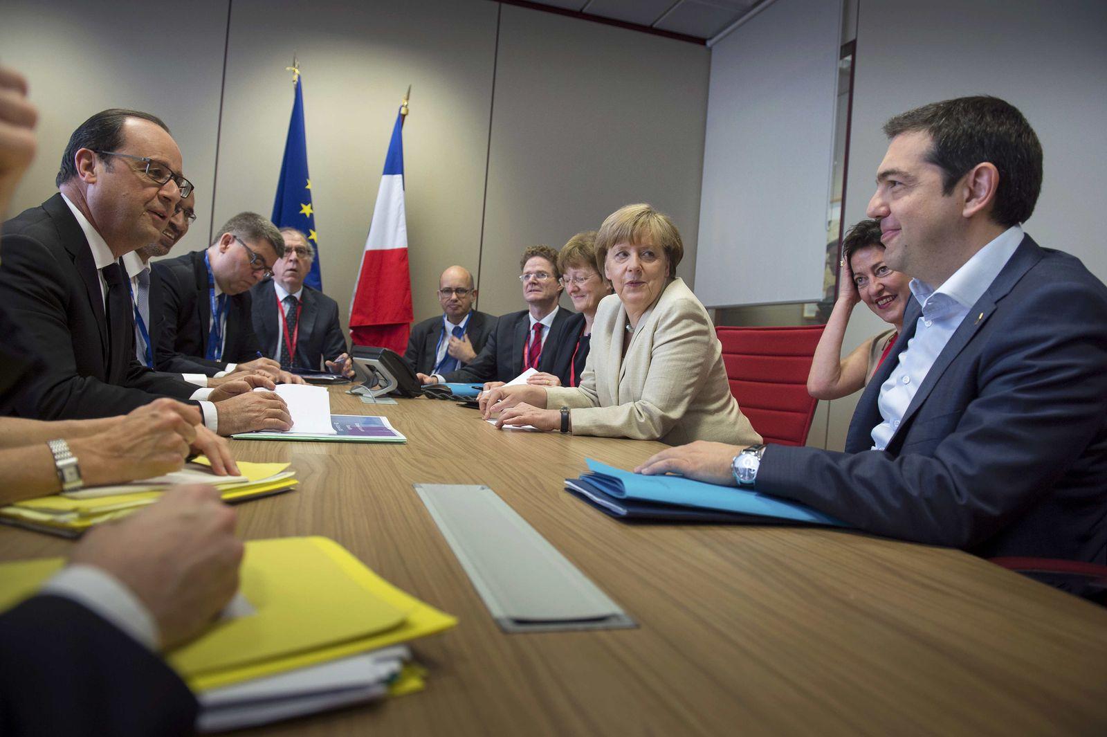 Tsipras/ Merkel/ Hollande