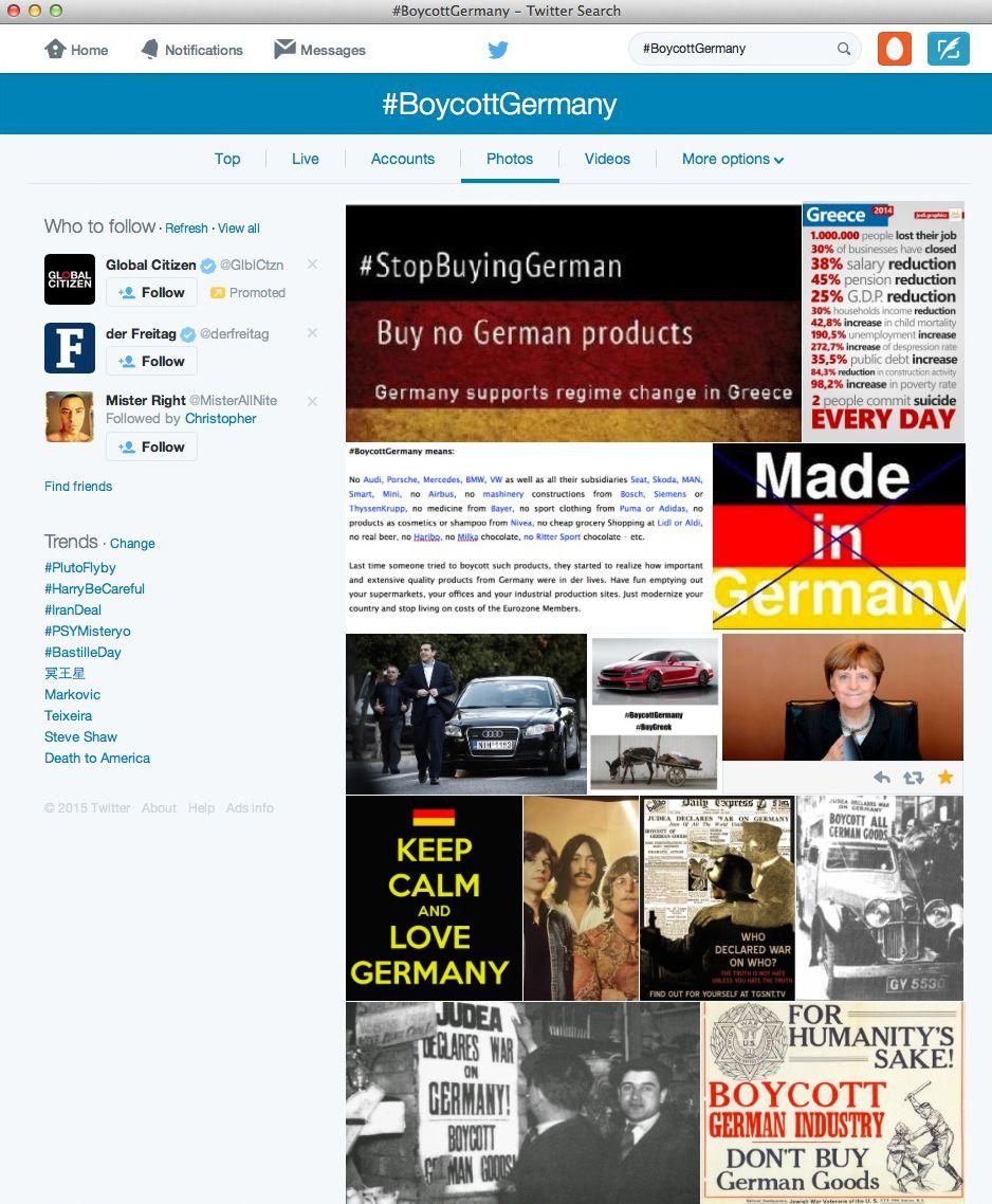 NUR ALS ZITAT Screenshot/ BoycottGermany