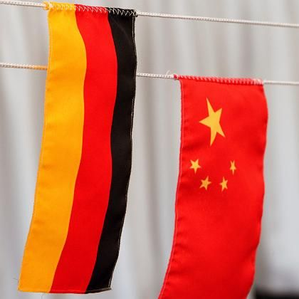 Germany and China are not getting along so well these days.