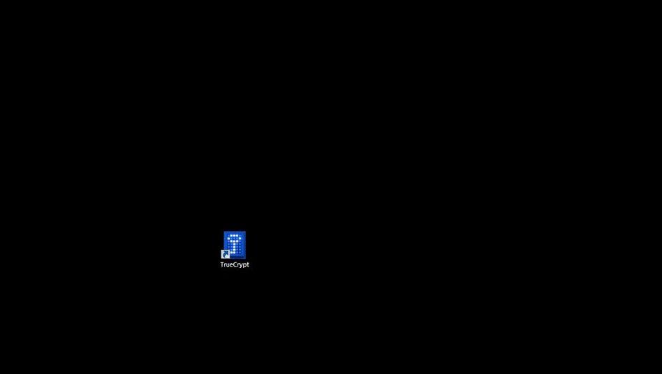 TrueCrypt erstellte verschlüsselte Container zum Speichern von Dateien