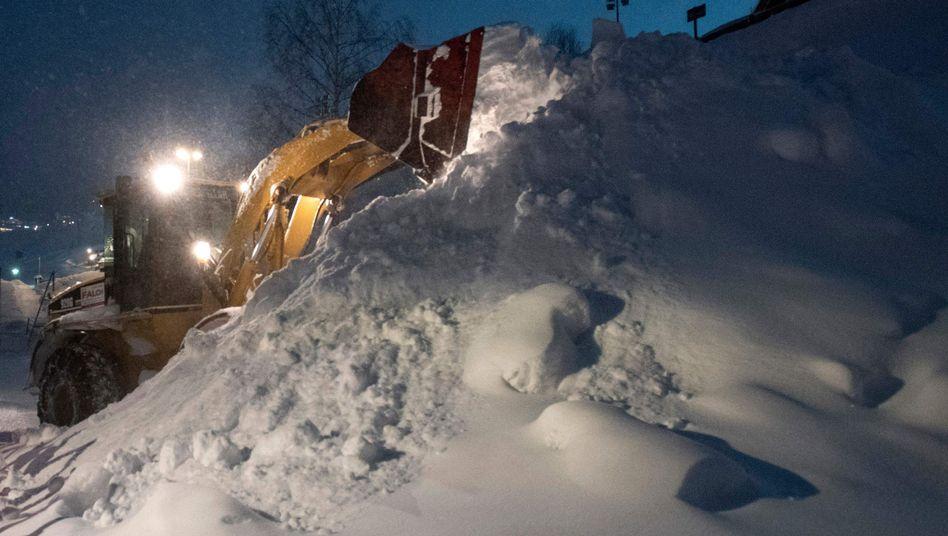 Schneemassen in St. Anton am Arlberg