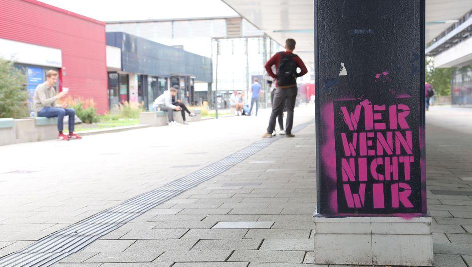 Graffiti an der Universität Bremen