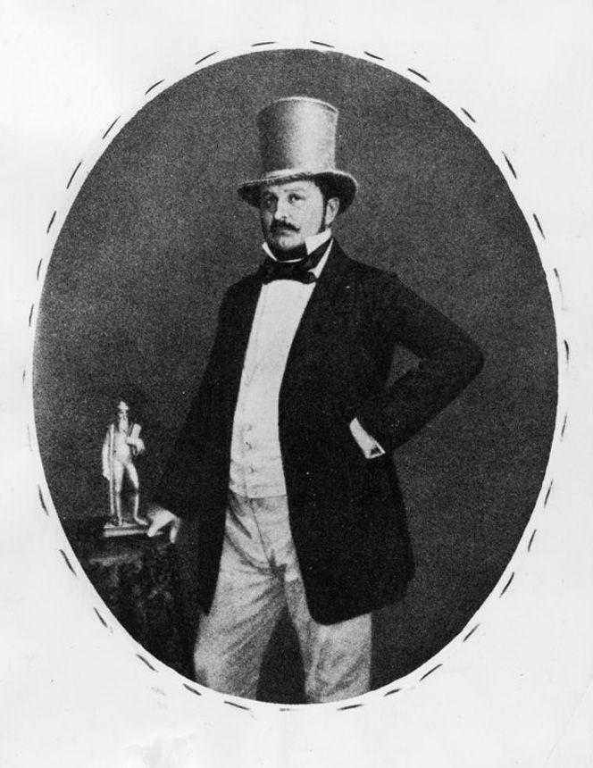 Ernst Litfaß um 1860
