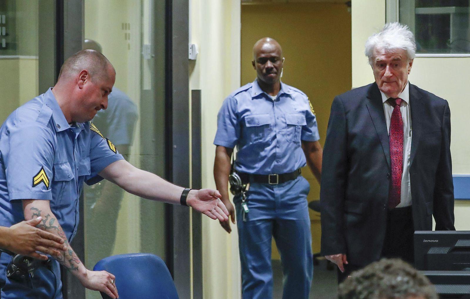 Berufungsprozess von Serbenführer Karadzic in Den Haag