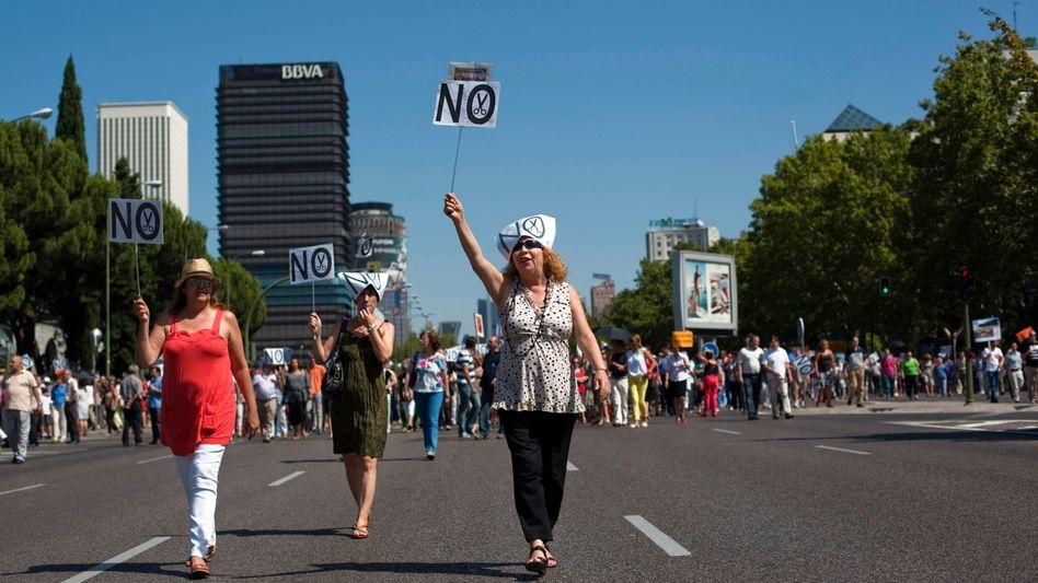 Demo in Madrid: Protest gegen Sparkurs der Regierung