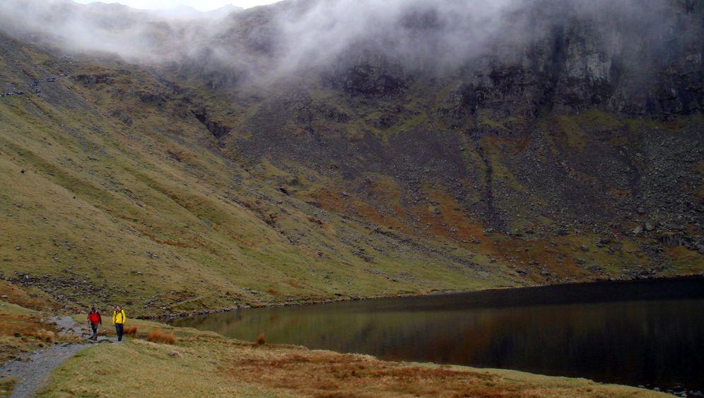 Lake District: Nebel über der Seenplatte