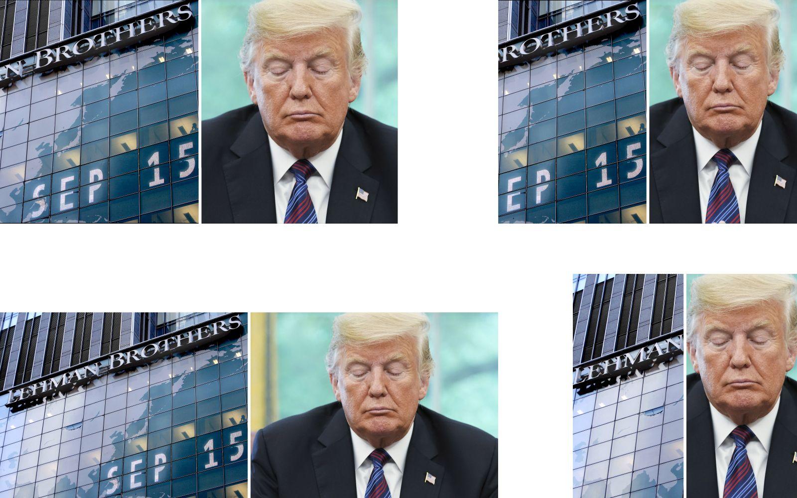 EINMALIGE VERWENDUNG Lehman Brothers/ Trump