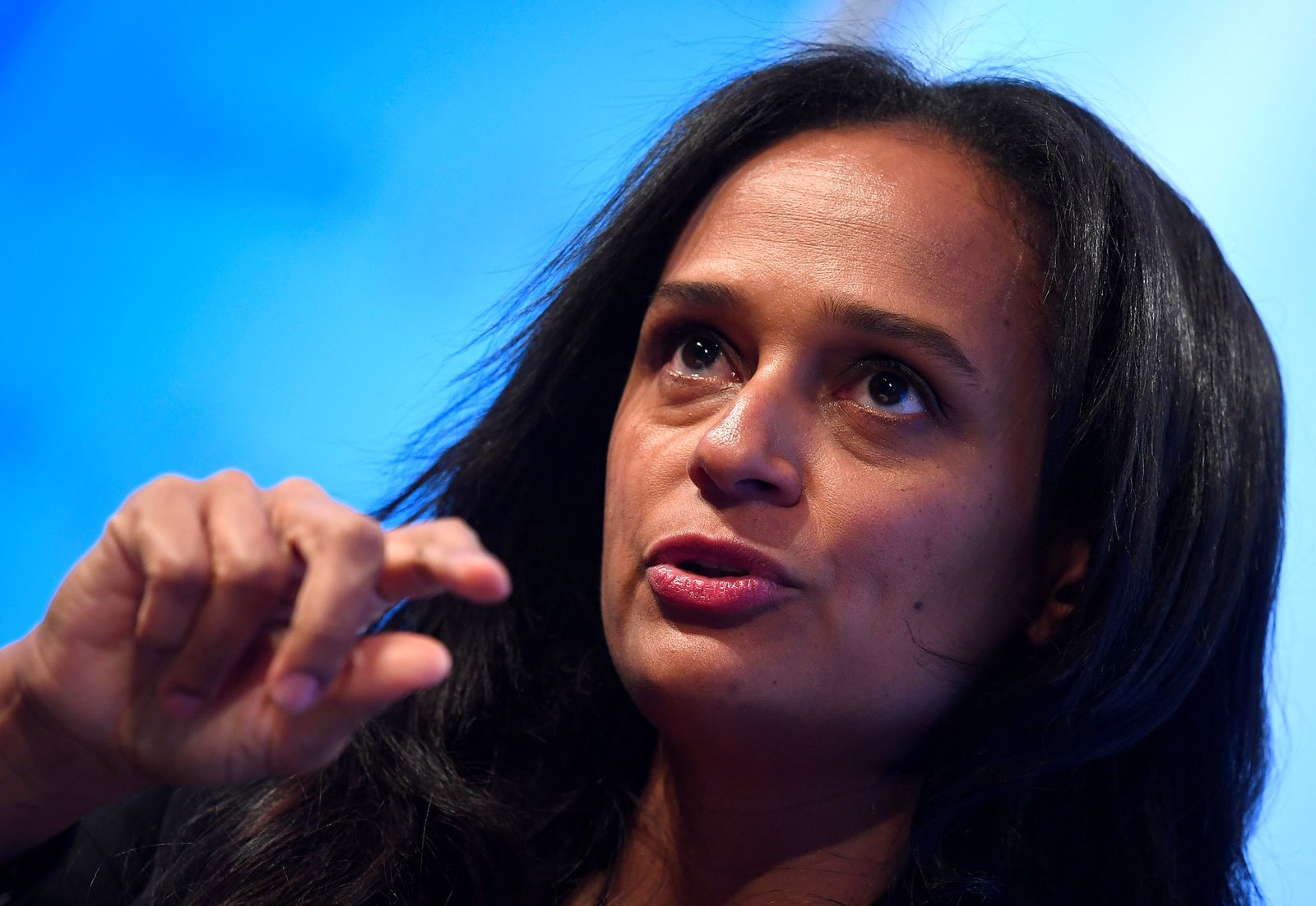 FILE PHOTO: Isabel dos Santos speaks during a Reuters Newsmaker event in London, Britain