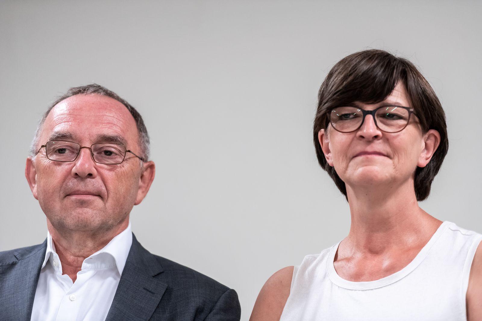 EINMALIGE VERWENDUNG SPD-Paare/ 2019/ Norbert Walter-Borjans/ Saskia Esken
