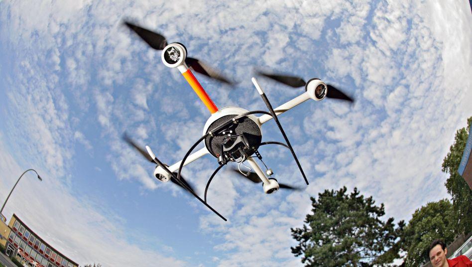 Microdrones-Drohne (Archivbild von 2008): Googles fliegendes Auge?