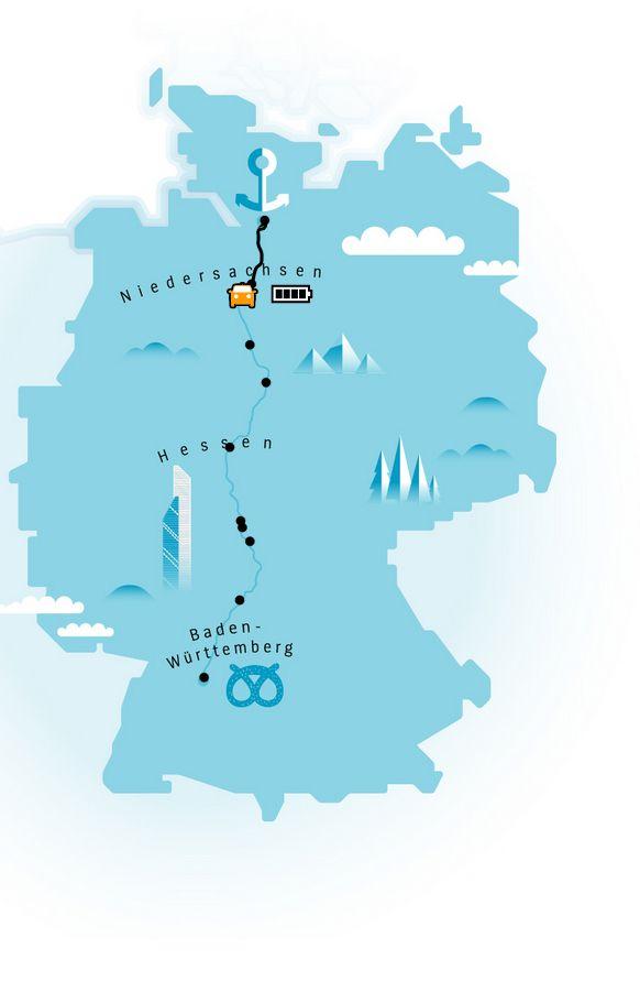 EINMALIGE VERWENDUNG Elektroauto/ Roadtrip Deutschland