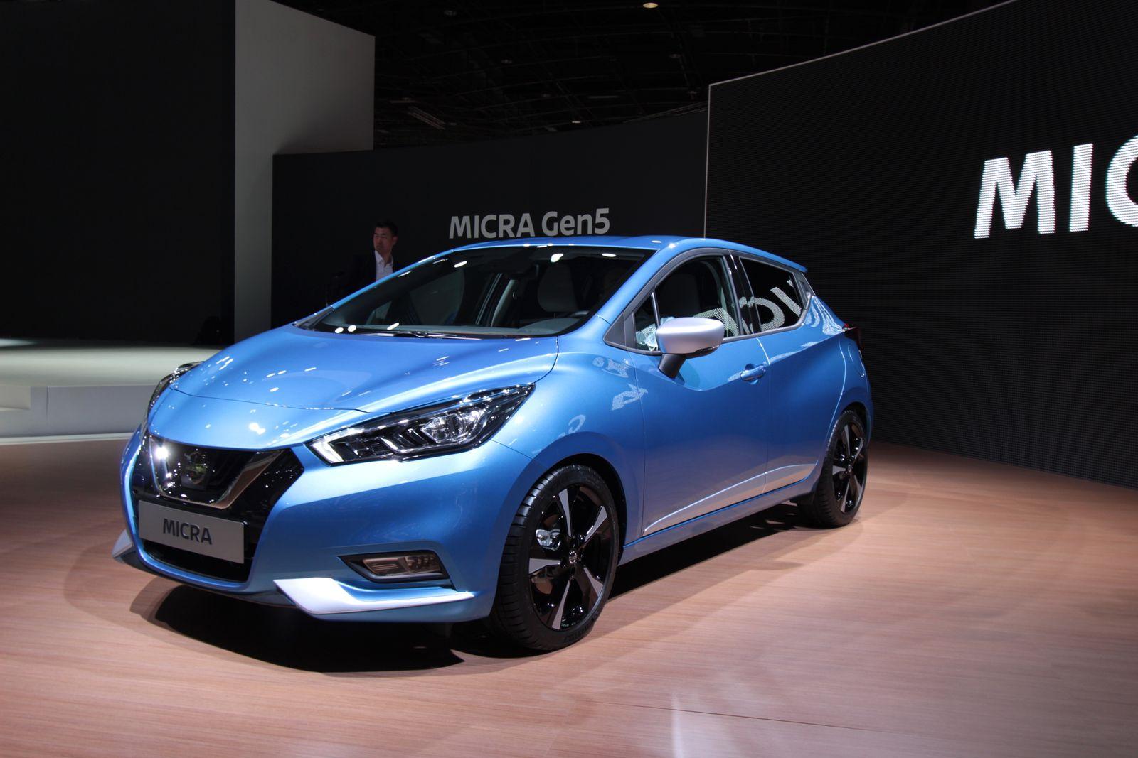 EINMALIGE VERWENDUNG 2016/ Paris/ Neue Modelle/ Nissan-Micra